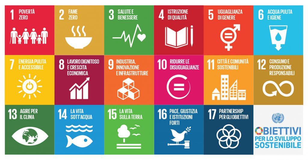 17 obiettivi di sviluppo sostenibile agenda 2030