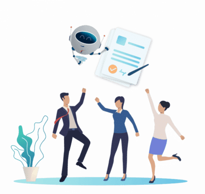 candidati festeggiano il nuovo lavoro trovato grazie al consulente di carriera digitale jobiri