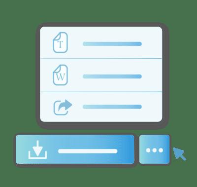 scegli il formato ed esporta curriculum online con jobiri
