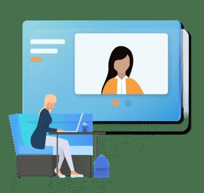 candidata fa simulazione colloquio online con jobiri